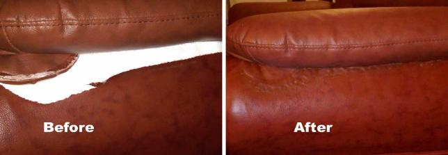 leather rip, tear repair