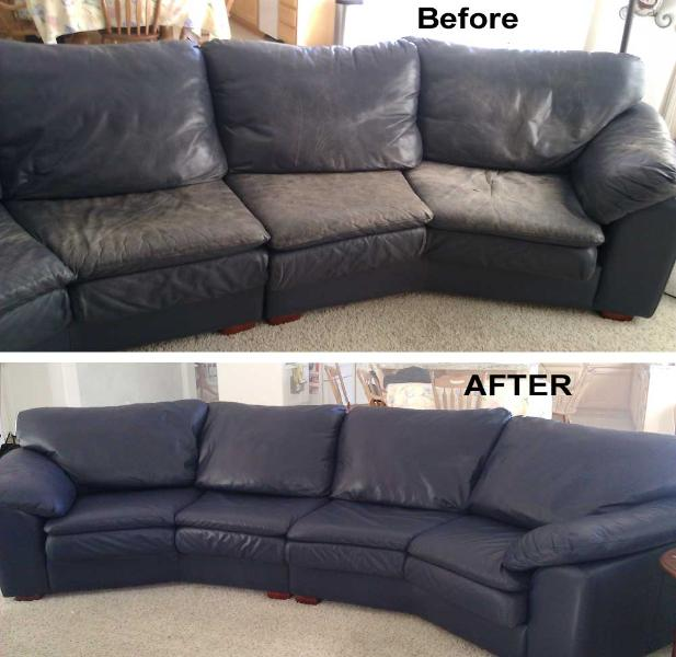 Re Leather Sofa Fading Faded Color