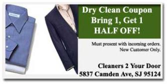 Cleaners To Your Door Coupon San Jose CA
