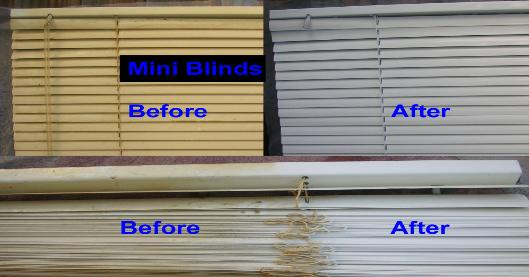 clean mini blinds before after